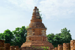 Historical Tourist Attraction. Ancient Ruins at Wiang Kum Kam in Chiangmai Thailand Royalty Free Stock Photos