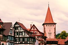 Historical tower in Gengenbach Germany Stock Image
