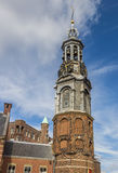 Historical tower Munttoren in the center of Amsterdam Royalty Free Stock Photos