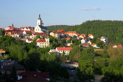 Historical town stock photo
