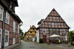 Historical town center of Rietberg, Germany Stock Photo