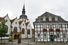 Historical town center of Rietberg, Germany Stock Images