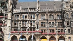 Munich Town hall. The historical town hall of Munich, Germany stock footage