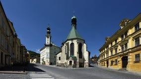 Town Hall Square, Banska Stiavnica, Slovakia, UNESCO royalty free stock photo
