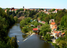 Historical town panorama. Panorama view of a historical town stock image