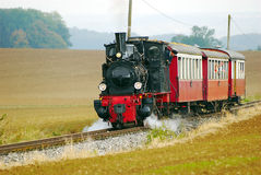 Historical train. With steam locomotive stock image