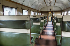 Historical train carriage inside view. In the Netherlands stock photos