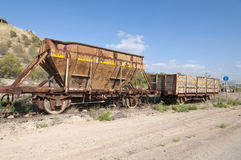 The old train in Naharayim Royalty Free Stock Image