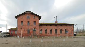 Historical train station, listed as monument in Zuessow, Germany.  Royalty Free Stock Image