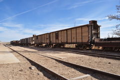 Historical Train Wagons. In South Jordan Stock Photography