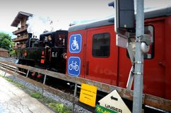 Historical train in Zell am Ziller Stock Photo