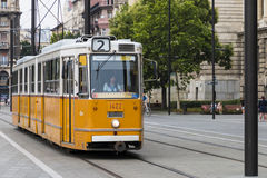 Historical Tram in Budapest Royalty Free Stock Photos