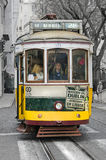 Historical tram in Lisbon Royalty Free Stock Images