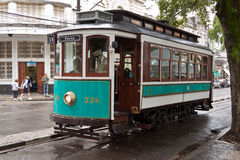 Historical Tram in Santos Brazil Royalty Free Stock Photos