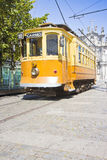 The historical trasportation of Porto - on background the stock photography