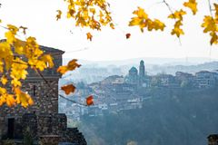 Historical Tsarevets fortress in Bulgaria Stock Photography