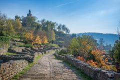 Historical Tsarevets fortress in Bulgaria Royalty Free Stock Images