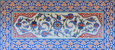 Historical Turkish - Ottoman tiles Royalty Free Stock Photos