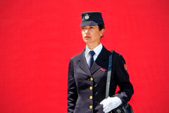 Historical uniform woman police Royalty Free Stock Images