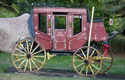 North Dakota state. US mail coach. One of the first official US mail coach ,which was on the roads of the north-west of young America royalty free stock photography