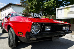 Historical usa sportive vehicle. On the raod Royalty Free Stock Photos