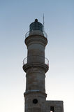 Historical Venetian lighthouse on sunset. Royalty Free Stock Images