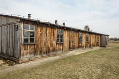 Historical view of Auschwitz death camp in color Royalty Free Stock Photography