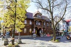 Historical Villa Poraj at the street Krupowki Royalty Free Stock Photography