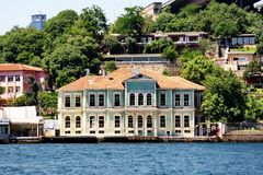 Historical villa at Yenikoy Stock Images