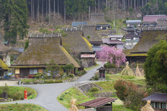 Historical village Miyama in Kyoto, Japan royalty free stock images