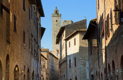 Historical village of San Gimignano Stock Photo