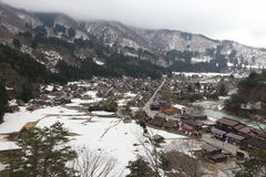 Historical village shirakawago in winter Stock Photography