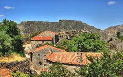 Historical village of Sortelha Royalty Free Stock Photos