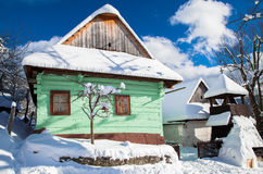 Historical village Vlkolinec, Slovakia Royalty Free Stock Photo