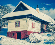 Historical village Vlkolinec, Slovakia Royalty Free Stock Image