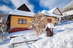 Historical village Vlkolinec, Slovakia Royalty Free Stock Image