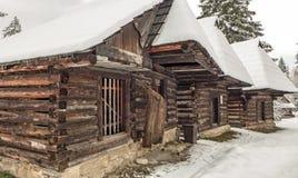 Historical village Zuberec at Slovakia. Cottage at historical village Zuberec at Slovakia royalty free stock photos