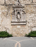 Historical wall decoration on Buda Castle grounds in Budapest Royalty Free Stock Images