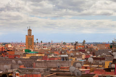 Historical walled city of Marrakesh.  royalty free stock photos