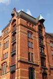Historical warehouse in Hamburg Stock Image