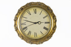 Historical watches. With old clock face and golden frame Royalty Free Stock Photography