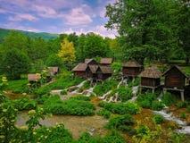 The Jajce Watermills Bosnia-Herzegovina royalty free stock photos