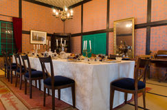 Historical western style dining room in Japan Stock Photos