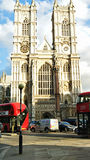 Historical Westminster Abbey. Westminster Abbey,  is a large, mainly Gothic abbey church in the City of Westminster, London, located just to the west of the Royalty Free Stock Image