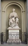Historical white statue in Florence, Italy Stock Image