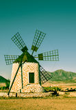 Historical windmill on Fuerteventura Royalty Free Stock Image