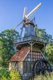 Historical windmill Huvener Muhle in Huven Stock Photo