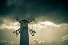 Historical windmill lighthouse in Swinoujscie, Poland Royalty Free Stock Images