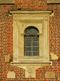 Historical window. Gothic window stock photo