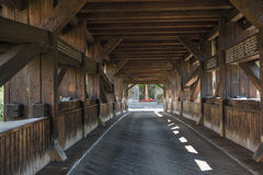 The historical wooden bridge in Forbach Royalty Free Stock Photo